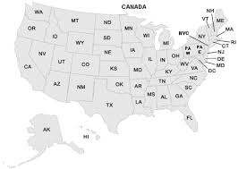 us state abbreviations map map of america with abbreviations america map