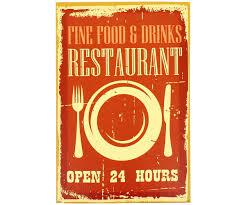 cadre cuisine tableau toile cadre rétro pub vintage usa restaurant self 30x20cm