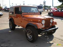 orange jeep cj 1985 orange metallic jeep cj7 4x4 23164449 photo 4 gtcarlot