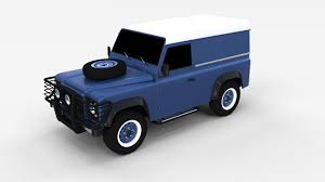 land rover racing land rover defender 90 hard top rev by dragosburian 3docean