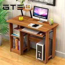 dark brown computer desk modern design eco friendly furniture computer table study shelf