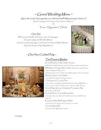 wedding menus meadow wood manor randolph nj 07869