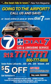 dial 7 car u0026 limousine service coupon city guide magazine