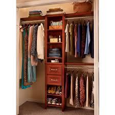 bedroom closet organizer with impressions 16 in dark cherry narrow