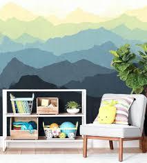 wall ideas mountain scene wallpaper mural mountain wall mural