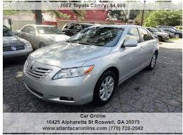 2007 toyota camry xle 2007 toyota camry xle v6 4dr sedan in roswell ga car