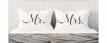 mr and mrs pillows mr and mrs wedding gift couples gift pillowcase set mr and mrs