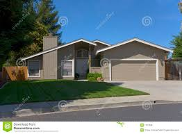 contemporary single story home royalty free stock photos image