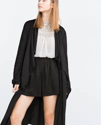 zara faux suede trench coat in black lyst