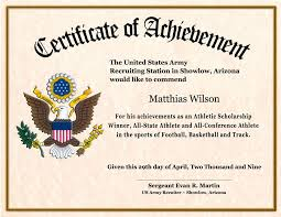 Certificate Of Achievement Army Template certificate wording for achievement certificate of achievement army