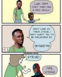 Hail Meme - too late captain hydra captain america hail hydra edits