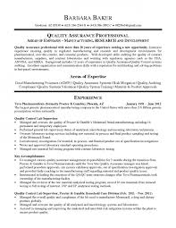 quality assurance resume samples army franklinfire co