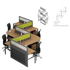 S Shaped Desk Office Furniture Office Table Office Desk