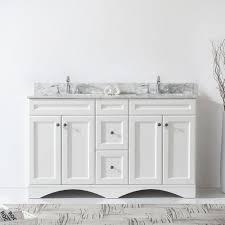 Double Bathroom Vanity 60 Virtu Usa Ed 25060 Wmsq Wh Nm Talisa 60 In Bathroom Vanity Set