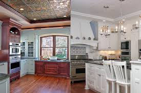 Modern American Kitchen Design Ceiling Black Chandelier With Wood American Tin Ceilings For