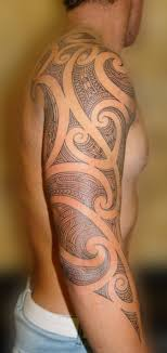 tribal tattoos on shoulder and sleeve ideas