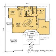 Two Storey Floor Plan Modern House Garage U0026 Dream Cottage Blueprints By Exciting Home Plans