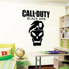 amazon com call of duty black ops wall decal art sticker boy s amazon com call of duty black ops wall decal art sticker boy s bedroom playroom hall color black size medium home kitchen