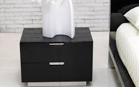Modern Black Nightstands Black Modern Nightstand Great Nightstands Distinct Style With 9