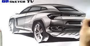 range rover sketch how to draw the lamborghini urus suv autoevolution