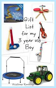 gift ideas for my 3 year boy gift birthdays and