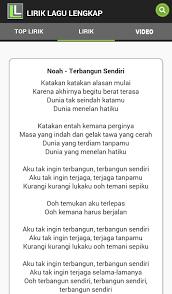 Lirik Lagu Lirik Lagu Lengkap Apl Android Di Play