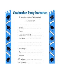 free graduation party invitations for celebration in honors of