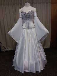elven wedding dress medieval dress handfasting white and