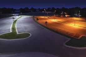 led parking lot lights vs metal halide led outdoor area lighting fact sheet