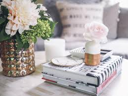 how to style a coffee table cheers from the roses
