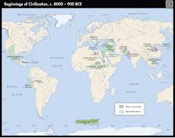 Mesoamerica Map Beginnings Of Civilization 8000 900 Bce Map Maps Com