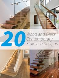 Glass Banister Staircase 20 Wood And Glass Contemporary Staircase Designs Home Design Lover