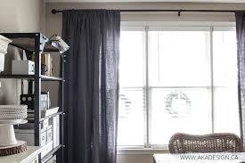 dark gray laundered belgian linen drapes for the dining room