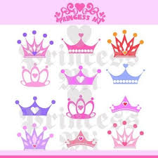 small clipart princess crown pencil and in color small clipart