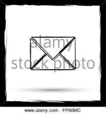 contact message paintbrush wooden wall stock photo