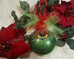 Grinch Christmas Decorations Sale Grinch Ornaments Etsy