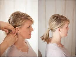 Easy Wedding Hairstyles For Short Hair by Wedding Hairstyles Low Bun Bangs Diy Medium Hair Styles Ideas