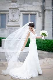 bridal veil plain 1 tier chapel length tulle veil with edge chapel