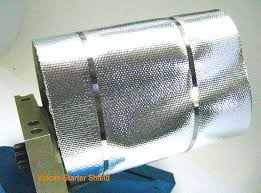 mylar wraps universal starter heat shield reflective mylar for