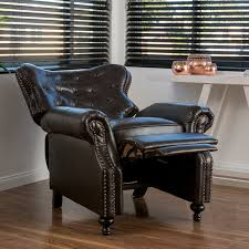 amazon com waldo brown leather recliner club chair kitchen u0026 dining