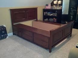 Diy Queen Size Platform Bed - bedroom diy king size platform bed diy bed frame with storage