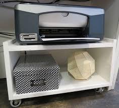 Small Desk Organization Ideas Best 25 Printer Stand Ideas On Pinterest Monitor Stand