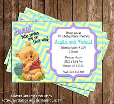 novel concept designs winnie the pooh baby shower thank you card