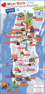map attractions new york city most popular attractions map