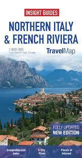 Northern Italy Map by Insight Travel Maps Northern Italy U0026 French Riviera Amazon Co Uk