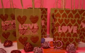 pink gift bags pink hearts inspired gift bags creative collection by shon