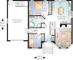 small home floor plans small house plans with garage level transitional small home with