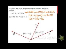 angle addition segment addition distance formula lessons tes