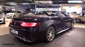 mercedes s63 amg review 2017 mercedes s63 amg convertible start up exhaust sound in