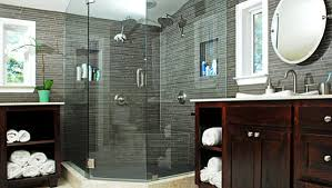 Man Cave Bathrooms Masculine Bathroom In Gray Masculine And Feminine Bathrooms His